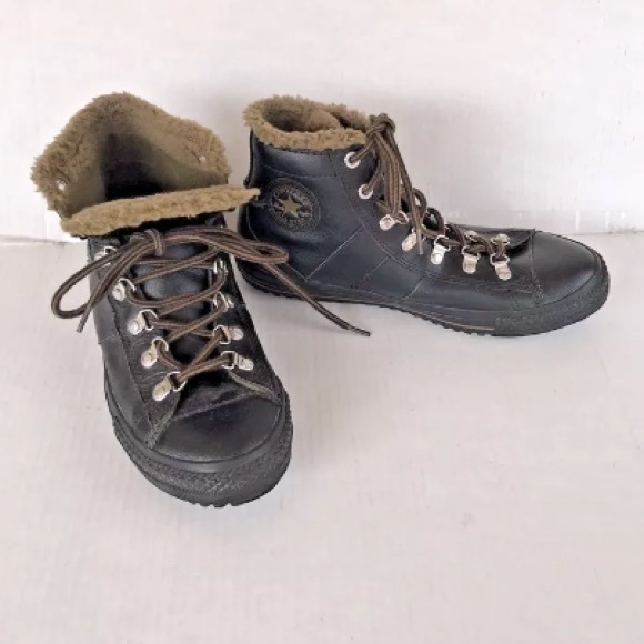 Converse Shoes - Converse All Star Leather Sherpa Hiking Chucks 7fed4a658